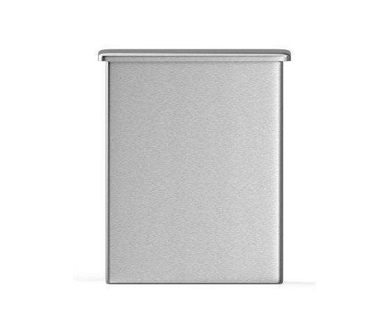 Wall mounted 5L bin for sanitary bags, with built-in dispenser by Duten | Bath waste bins