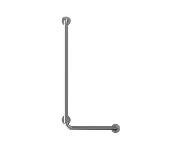 Stainless steel L shaped Ø32mm grab rail, 3 point fixation by Duten   Grab rails