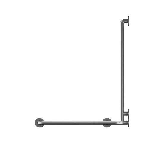 Stainless steel Ø32mm grab rail, 5 point fixation by Duten | Grab rails