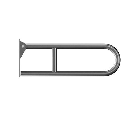 Stainless steel Ø32mm hinged drop down grab bar by Duten | Grab rails