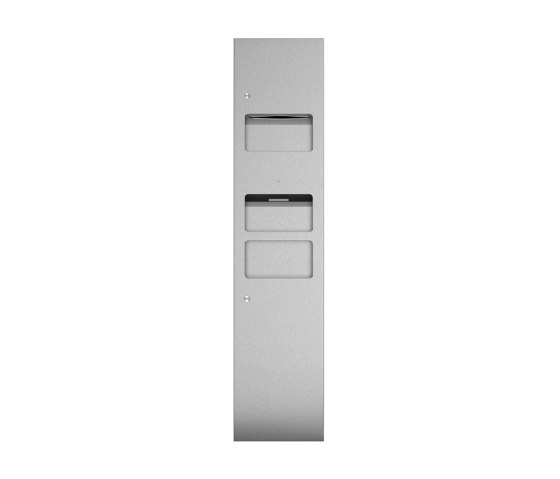 Combination unit with hand towel dispenser, hot air dryer and 25L waste bin by Duten | Bath waste bins