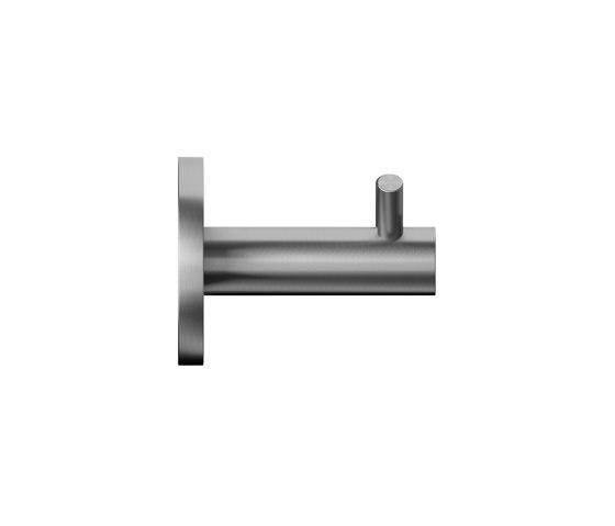 Double stainless steel coat hook by Duten | Single hooks