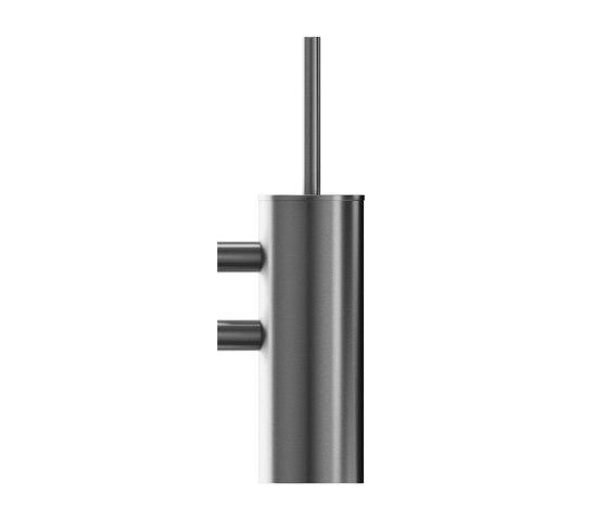Wall-mounted toilet brush and brush holder by Duten   Toilet brush holders