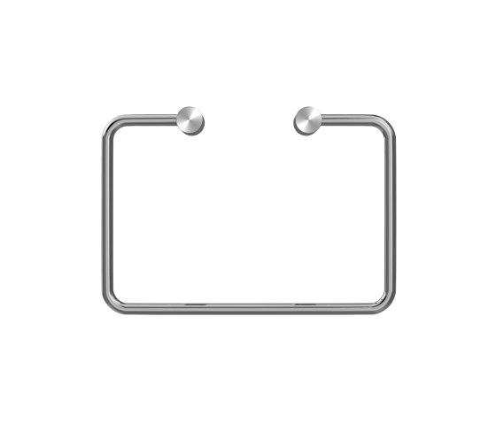Stainless steel rectangular towel rail by Duten | Towel rails
