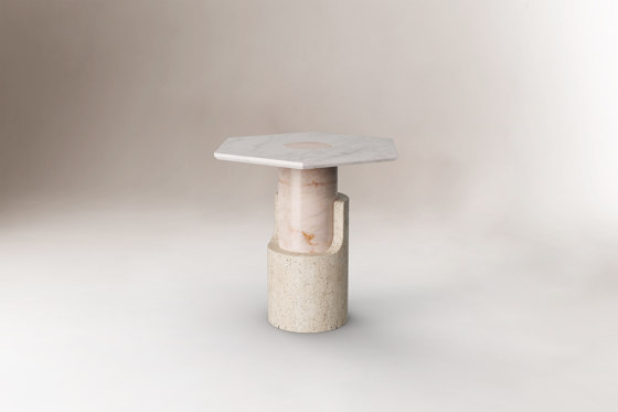 Braque Travertine side table by Dooq | Side tables