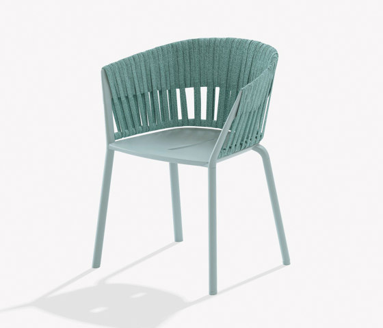 Ria dining armchair with fully woven rope by Fast | Chairs