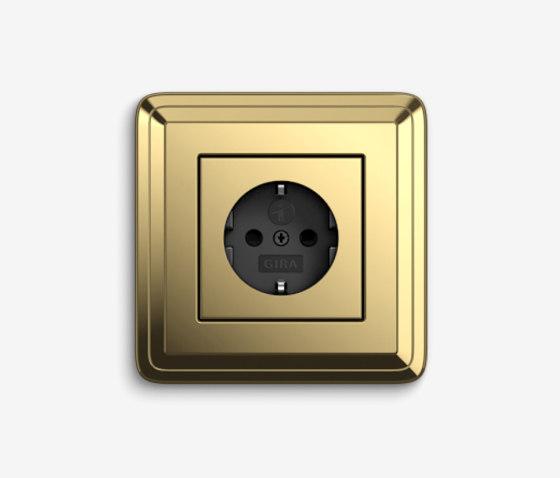ClassiX | Socket outlet Brass by Gira | Schuko sockets
