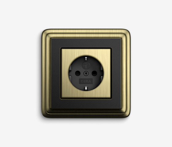 ClassiX | Socket outlet Bronze black by Gira | Schuko sockets