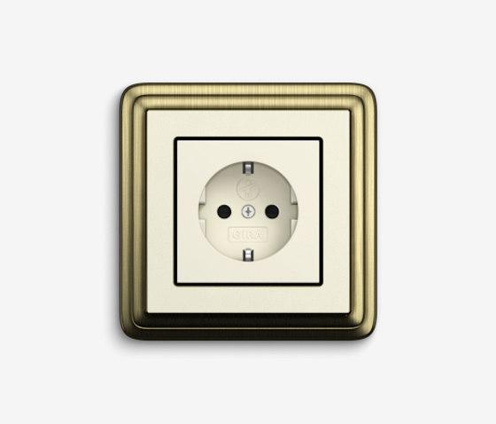 ClassiX | Socket outlet Bronze cream white by Gira | Schuko sockets