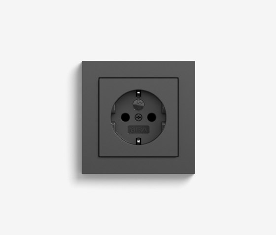 E2 | Socket outlet Anthracite by Gira | Schuko sockets