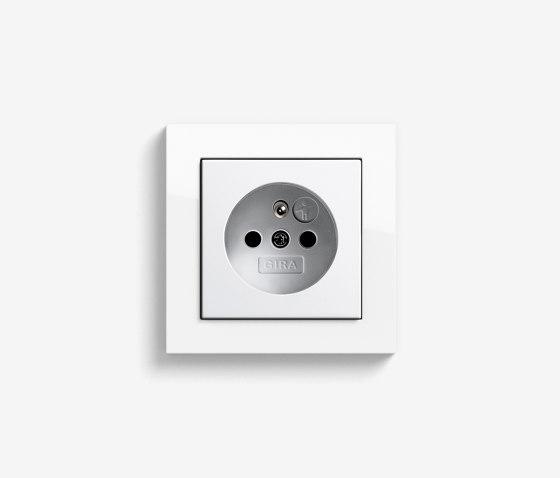 E2 CEBEC | Socket outlet Pure white glossy by Gira | Schuko sockets