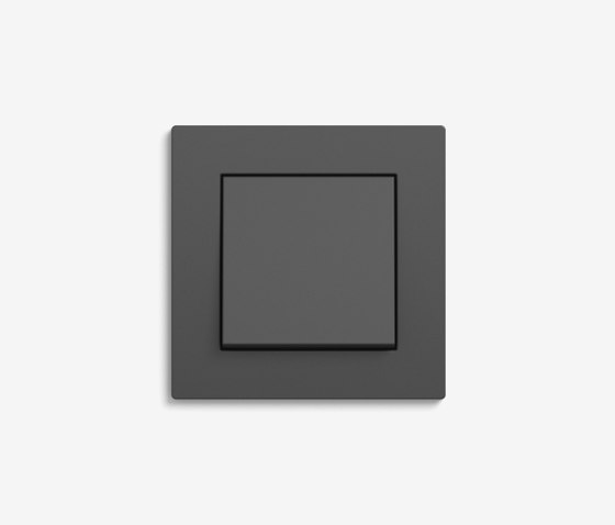 E2 Flat installation | Switch Anthracite by Gira | Push-button switches