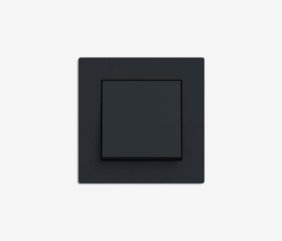 E2 Flat installation | Switch Black matt by Gira | Push-button switches