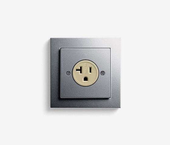 E2 NEMA   Socket outlet Colour aluminium by Gira   American sockets