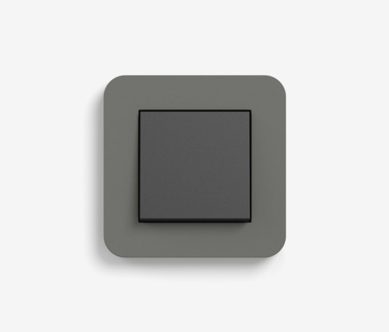E3 | Switch Dark grey with black by Gira | Push-button switches