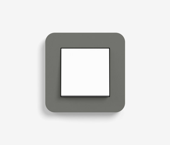 E3   Switch Dark grey with white by Gira   Push-button switches