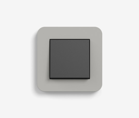 E3 | Switch Grey with black by Gira | Push-button switches
