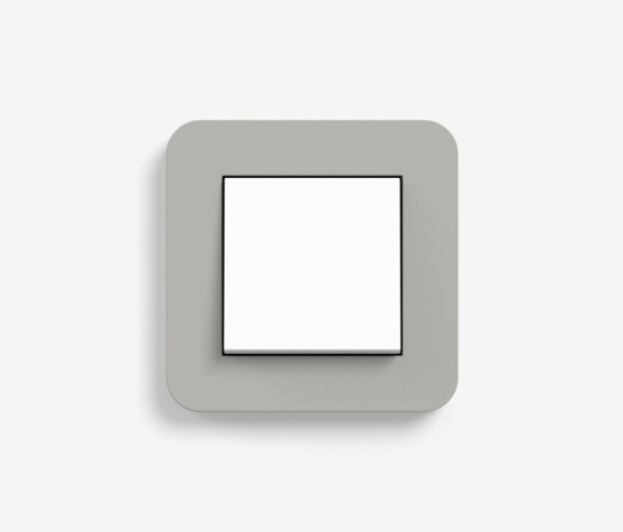 E3 | Switch Grey with white by Gira | Push-button switches