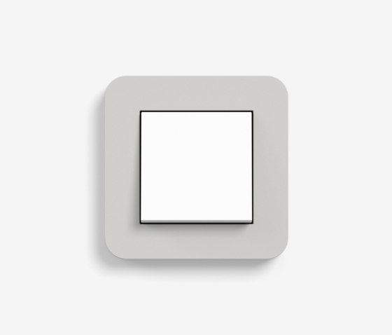 E3 | Switch Light grey with white by Gira | Push-button switches