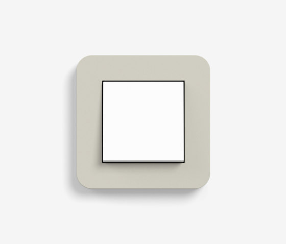 E3 | Switch Sand with white by Gira | Push-button switches