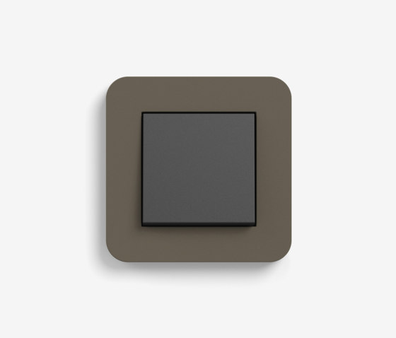 E3 | Switch Umber with black by Gira | Push-button switches