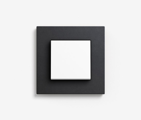 Esprit Linoleum-Plywood   Switch Anthracite by Gira   Push-button switches