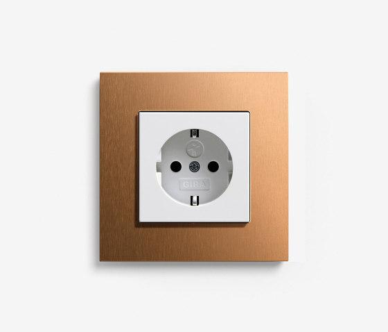 Esprit Metal | Socket Bronze by Gira | Schuko sockets