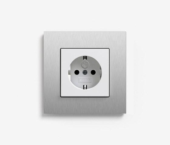 Esprit Metal | Socket outlet Aluminium by Gira | Schuko sockets