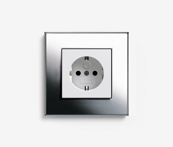 Esprit Metal   Socket outlet Chrome by Gira   Schuko sockets