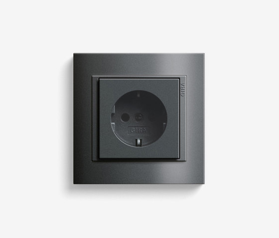 Event | Socket outlet Anthracite by Gira | Schuko sockets