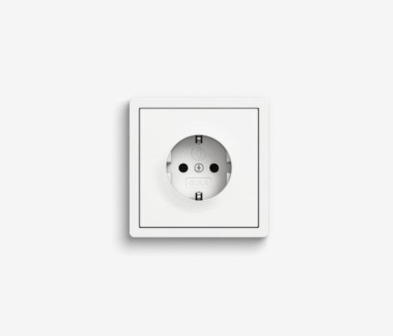 F100 | Pure white glossy by Gira | Schuko sockets
