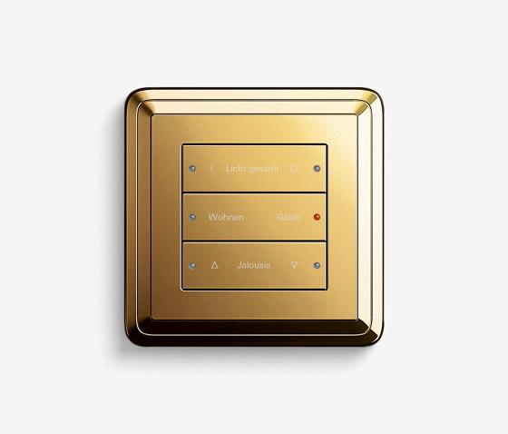 Smart Home/ Smart Building | Pushbutton Sensor 3 | Brass by Gira | KNX-Systems