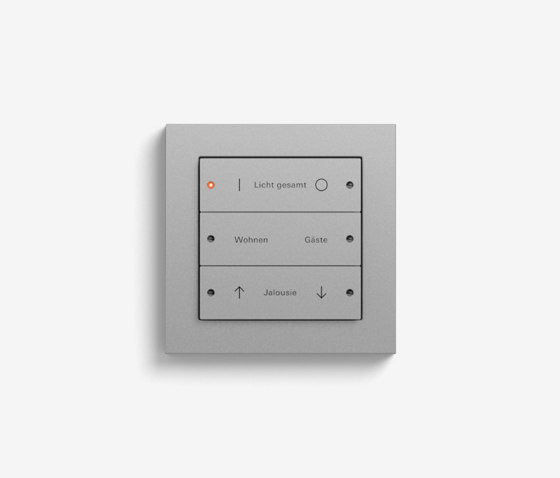 Smart Home/ Smart Building | Pushbutton Sensor 3 | Colour Aluminium by Gira | KNX-Systems