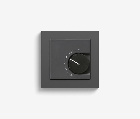 Heating and Temperature | Room temperature controller | Anthracite (including E2) by Gira | Heating / Air-conditioning controls