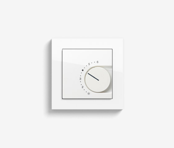 Heating and Temperature | Room temperature controller| Pure white glossy (including E2) by Gira | Heating / Air-conditioning controls