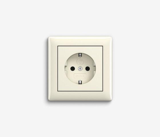 Standard 55   Socket outlet Cream white by Gira   Schuko sockets