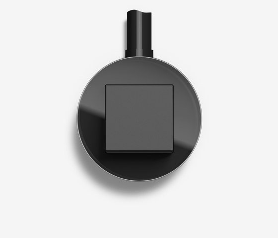 Studio | Switch Glass black, surface-mounted by Gira | Push-button switches