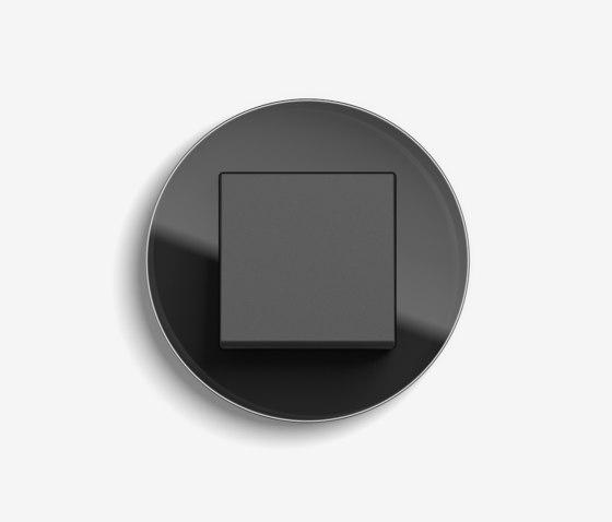 Studio | Switch Glass black by Gira | Push-button switches