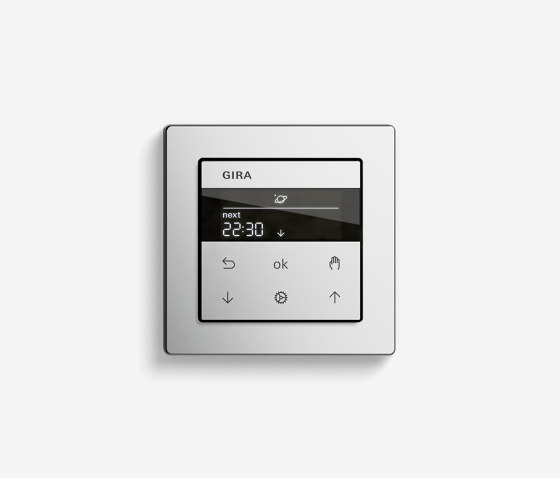 Blind Control | System 3000 Display blind timer | Stainless steel varnished (including E2) by Gira | Lighting controls