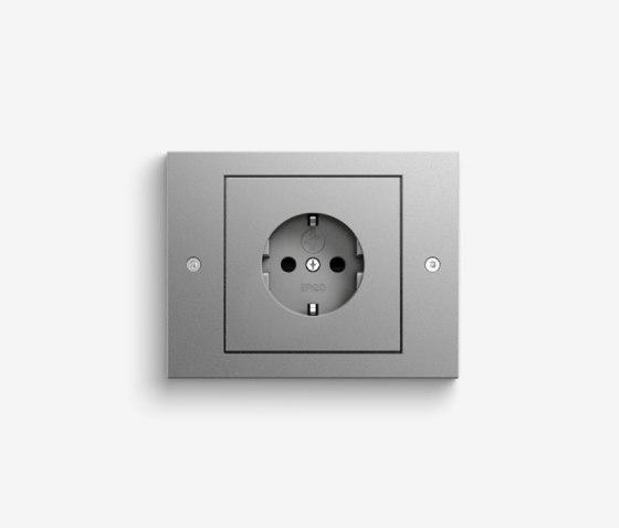 TX_44 | Colour aluminium by Gira | Schuko sockets
