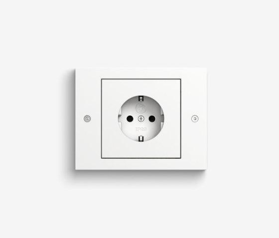 TX_44   Pure white by Gira   Schuko sockets