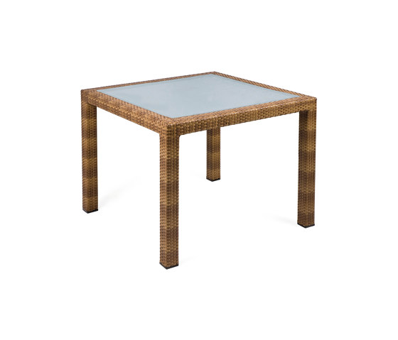 Bellini | Table Bellini Tobacco 90X90 With Glass Top by MBM | Dining tables