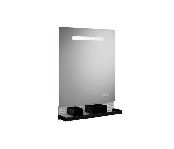 Fiumo | illuminated mirror by burgbad | Bath shelves