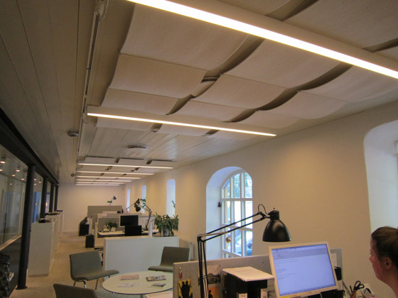 Qwaiet Wool absorber by Okko   Sound absorbing ceiling systems