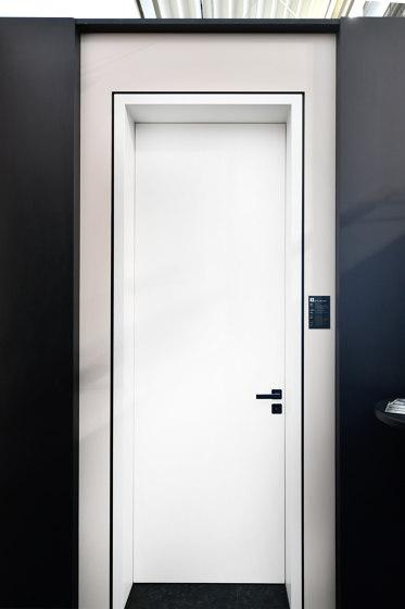 Modern Doors flush fitting INTRA UZ ALU by ComTür   Internal doors