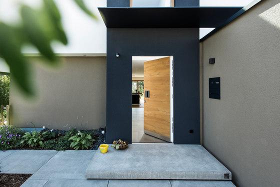 Modern front doors frameless doors NATURA by ComTür | Entrance doors