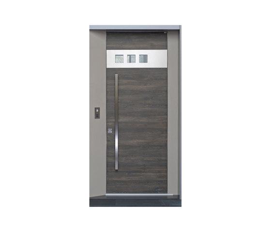 Modern front doors frameless doors CERA by ComTür | Entrance doors