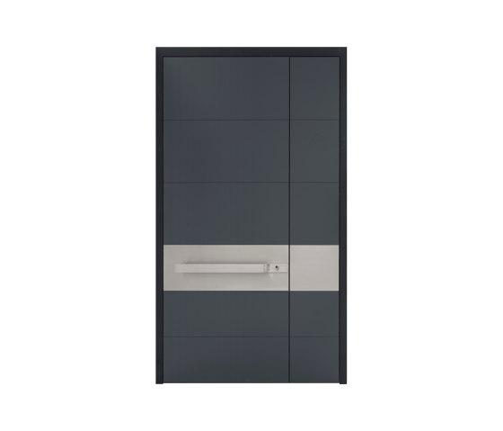 Modern front doors frameless doors CERA by ComTür   Entrance doors
