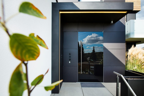 Modern front doors doors with special surfaces GALAXY by ComTür | Entrance doors