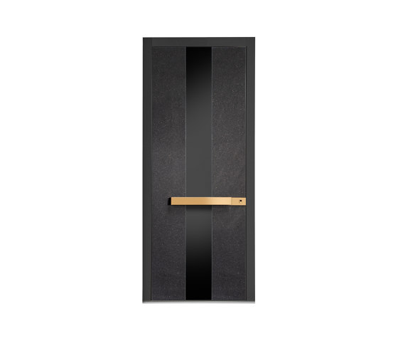 Modern front doors doors with special surfaces STONE by ComTür | Entrance doors